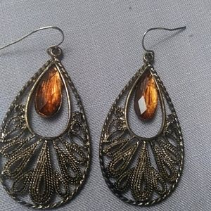 Vintage estate earrings.